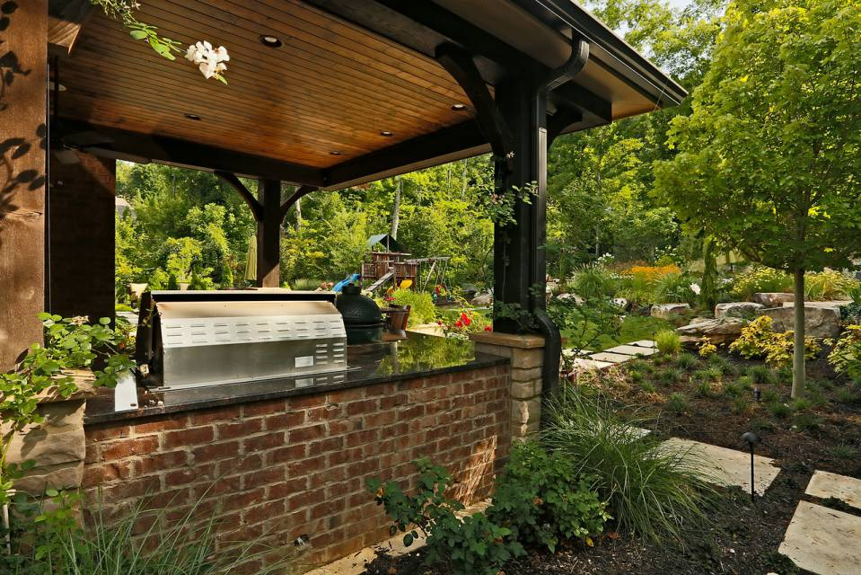 Luxury Outdoor Grilling near In-ground pools and spas in Nashville, Franklin, Clarksville TN