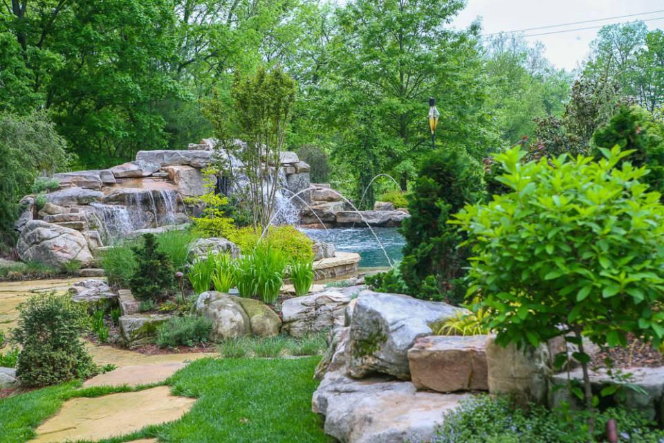 Luxury landscape around In-ground pools and spas in Nashville, Franklin, Clarksville TN
