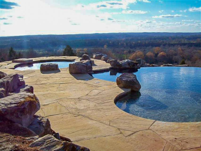Luxury pavers and deck around In-ground pools and spas in Nashville, Franklin, Clarksville TN