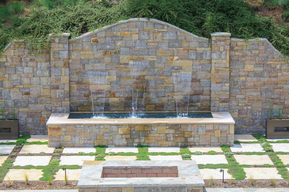 Water Feature and Stone Pavers for Freeform Pools and Spa in Nashville, Franklin, and Clarksville TN