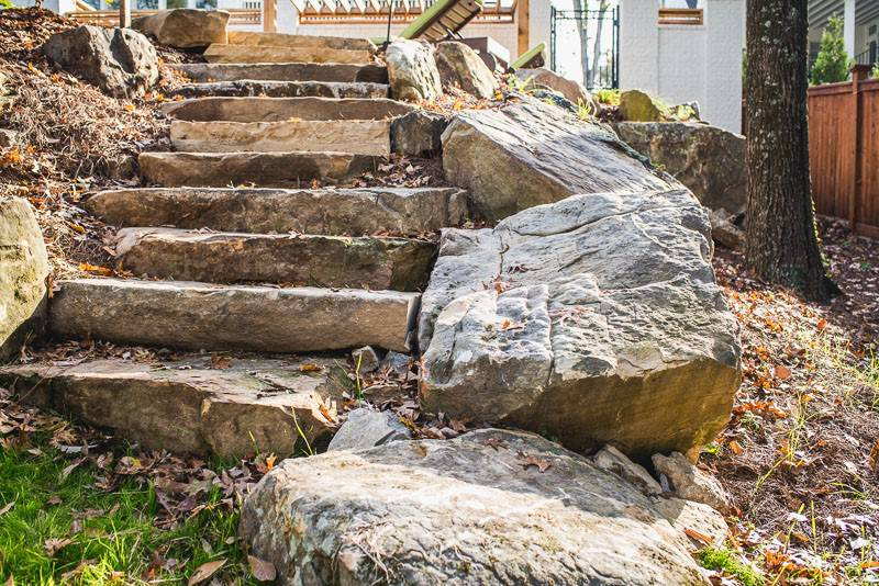 Stone work and landscape for around In-ground pools and spas in Nashville, Franklin, Clarksville TN