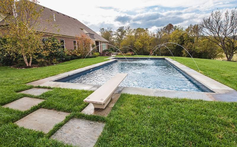 Backyard In-ground pools and spas in Nashville, Franklin, Clarksville TN