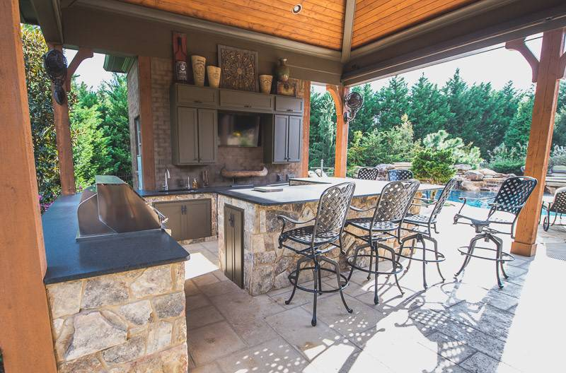 Outdoor and Counter near luxury In-ground pools and spas in Nashville, Franklin, Clarksville TN