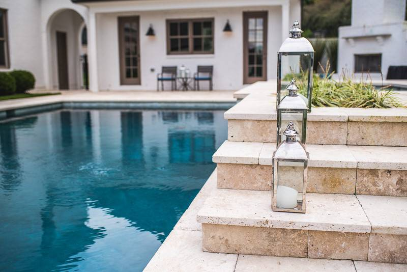 In-ground pool and spa and patio in Nashville, Franklin, Clarksville TN