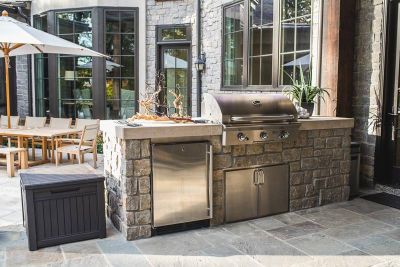 Outdoor Kitchen near In-ground pools and spas in Nashville, Franklin, Clarksville TN